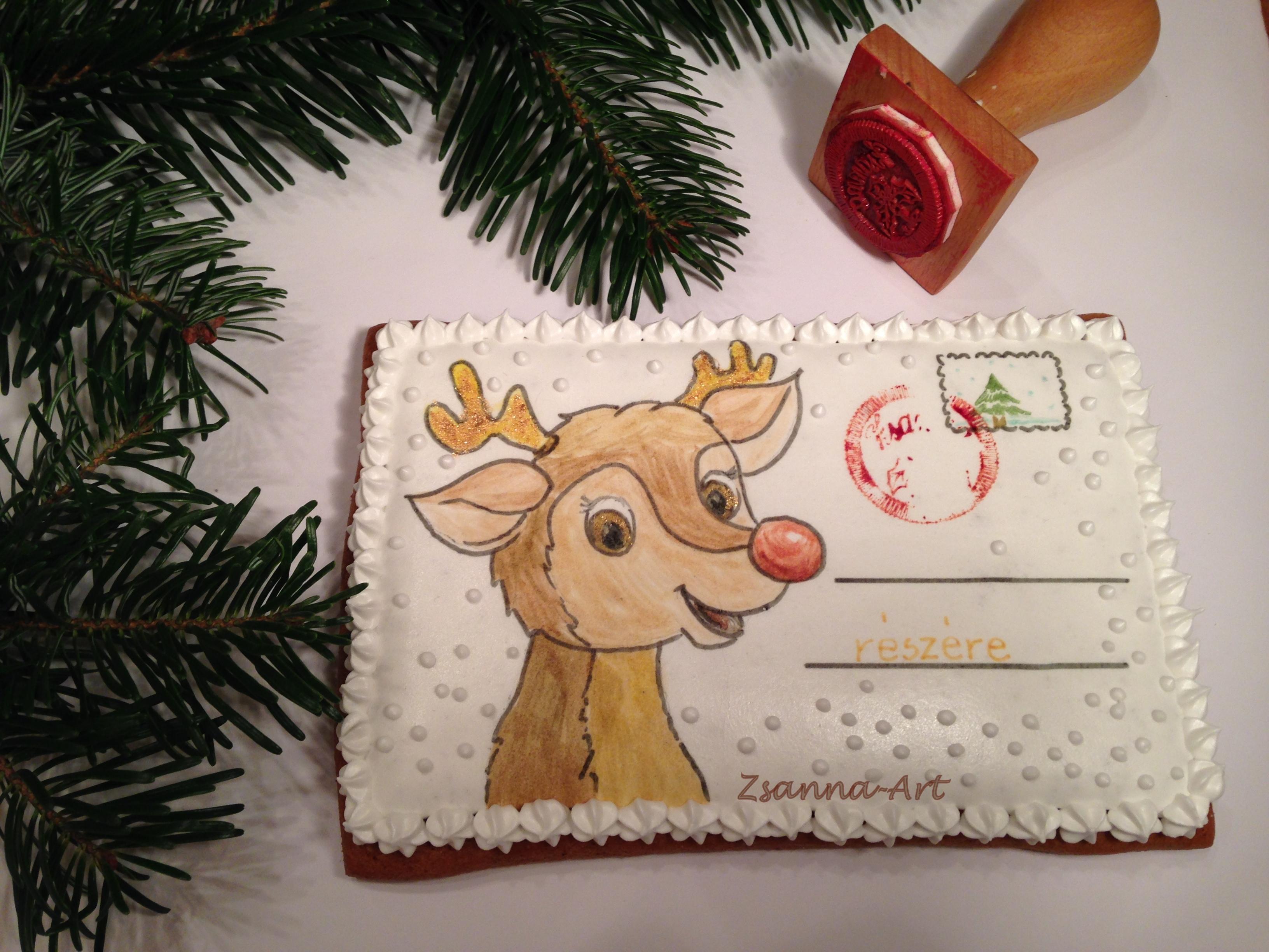 Karácsonyi mézeskalács levelezőlapok