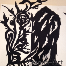 festett rg dressz, zsófia (karika) minta Zsanna-Art